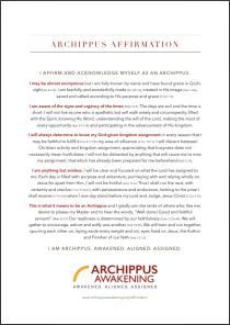 Archippus Affirmation